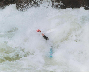 David paddling Pillow Rock on the Upper Gauley